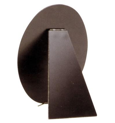 Schienale per portafoto ovale, nero, 15x20 cm